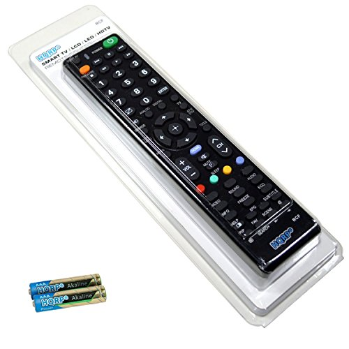 HQRP Remote Control for Sony KDL-52XBR6 KDL-52XBR7 KDL-52XBR9 KDL-52Z5100 KDL-55BX520 KDL-55EX500 LCD LED HD TV Smart 1080p 3D Ultra 4K Bravia + HQRP Coaster