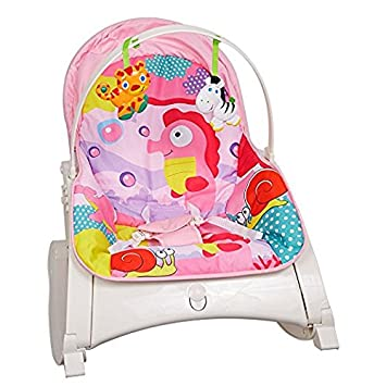 Lucky Tree Infant To Toddler Lightweight Baby Swing Chair Toddler Rocker  With Music (pink)