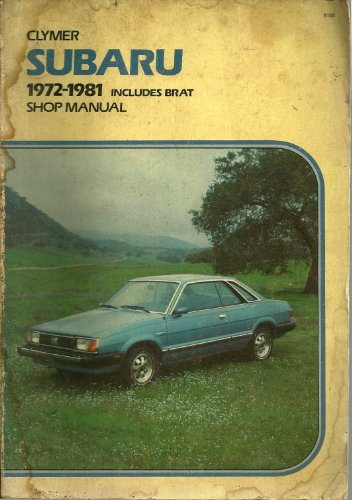 - Clymer Subaru 1972-1981 Includes Brat Shop Manual