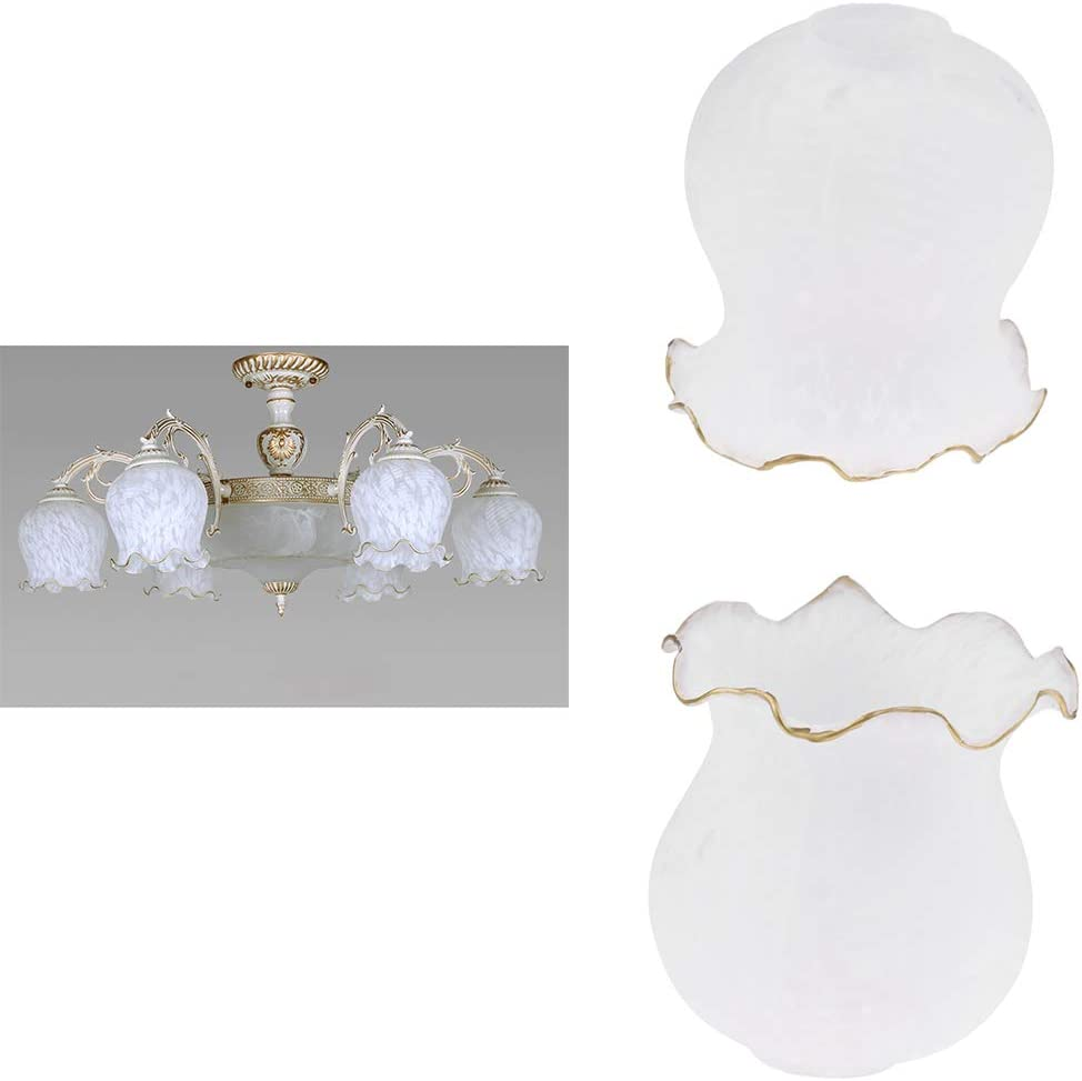 2x E27 Glas Lampenschirm Ersatzglas Ersatzschirm Lampenglas f/ür Wandleuchte Kronleuchter H/ängelampe