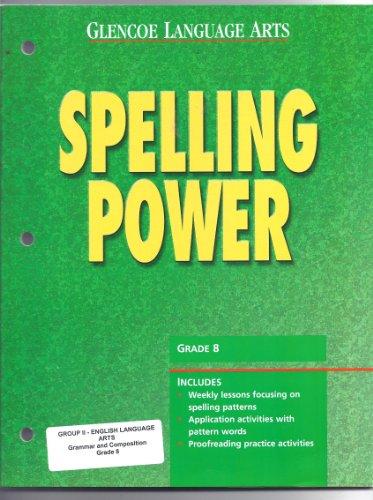 Glencoe Language Arts Spelling Power Blackline Masters Grade 8