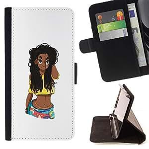 Momo Phone Case / Flip Funda de Cuero Case Cover - Rica Fille Femme Chick - Apple Iphone 6