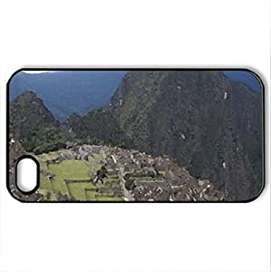 1 of the 7 world wonders - Case Cover for iPhone 4 and 4s (Watercolor style, Black)