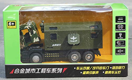 Generic Alloy Fire Truck Military Vehicle Toy Car Model Simulation Door Sound and Light Toy Speelgoed Auto De Juguete Diecast 1 50 Model Green