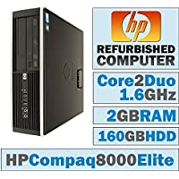 HP Compaq /Core 2 Duo E8500 @ 3.17 GHz/New 2GB Memory/160GB HDD/DVD-RW/WINDOWS 10 HOME-(Certified Reconditioned) (Certified Refurbished)