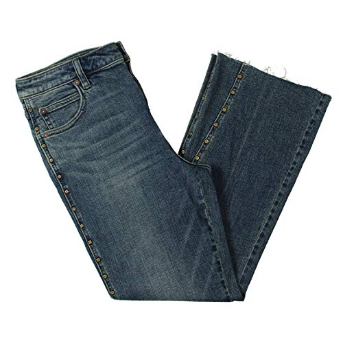 Free People Womens Denim Crop Flare Jeans Blue 29
