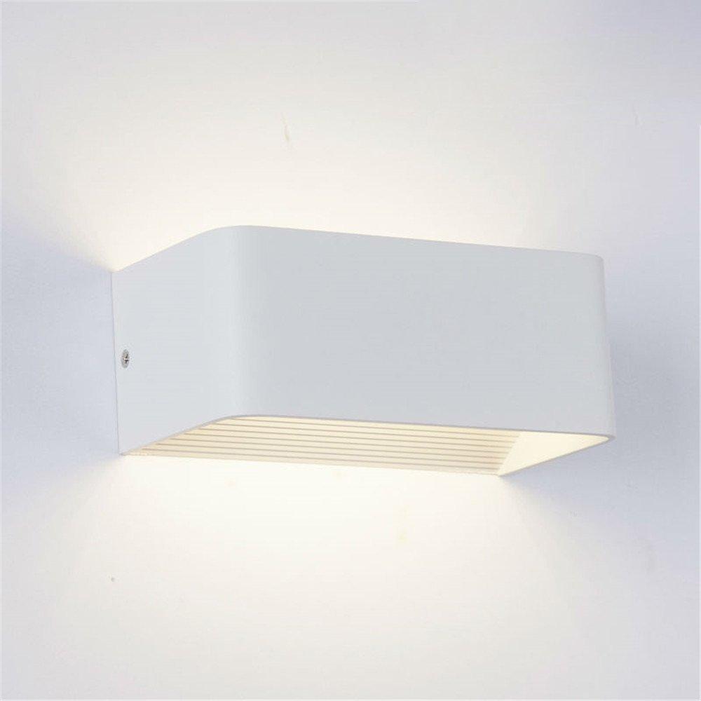 Yaojiaju Waterproof COB LED Light Wall Lamp Modern Home Lighting Decoration Aluminum AC 110-240V 1PCS (Color : Warm White)
