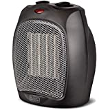 Black + Decker BHDC500B46 Compact/Personal Black Ceramic Desktop Heater with Safety Protection