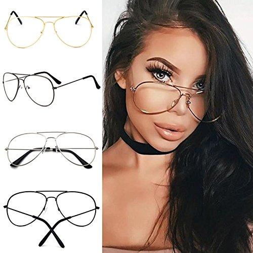 c77b0b7c4b7b Sufang Punk Style Fashion Gold Frame Clear Glasses Myopia Clear Frame  Glasses Women Men Spectacle Frame Clear Lens Optical Punk Glass Lunette  Unisex Eyewear ...