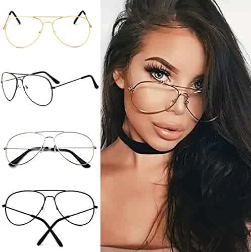 ad14f392ce Wyhui Punk Style Fashion Gold Frame Clear Glasses Myopia Clear Frame Glasses  Women Men Spectacle Frame