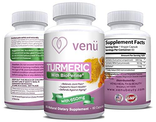 Venü Beauty Organic Turmeric Curcumin w