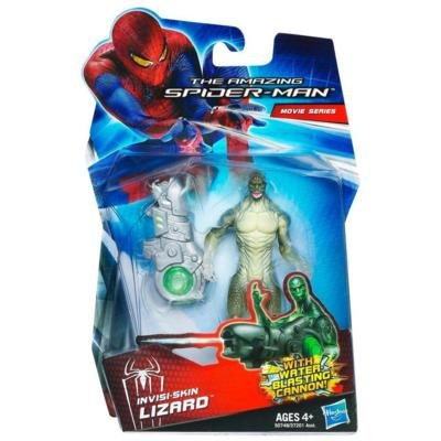 Amazing SpiderMan Movie 3.75 Inch Action Figure InvisiSkin Lizard Water Blast... by Hasbro -