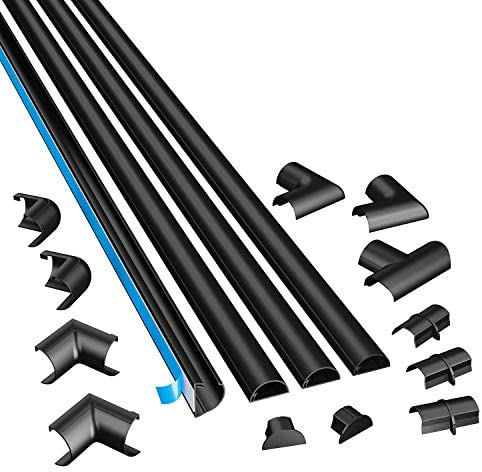D Line 3015kit002 Selbstklebender Runder Schwarzer Kabelkanal 30x15 Mm 4 X 1 M Länge 4 Stück Garten
