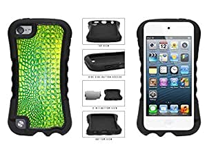 Bright Green Alligator Skin Dual Layer Phone Case Back Cover Apple iPod Touch 5th Generation