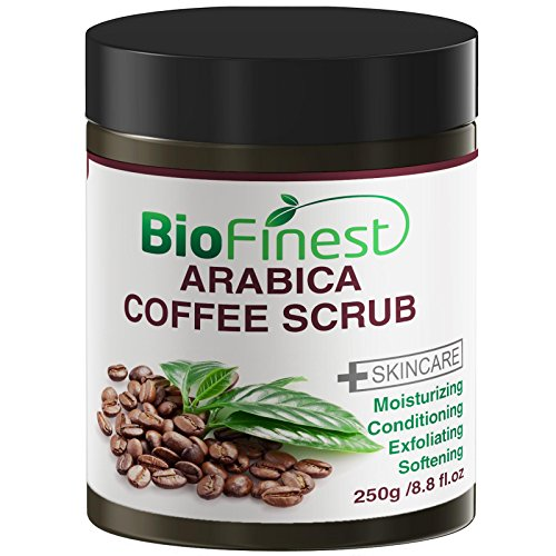 Biofinest Arabica Coffee Scrub: Best For Varicose Veins, Cellulite, Stretch Marks, Eczema & Acne – Moisturizer and Exfoliator (250g) For Sale