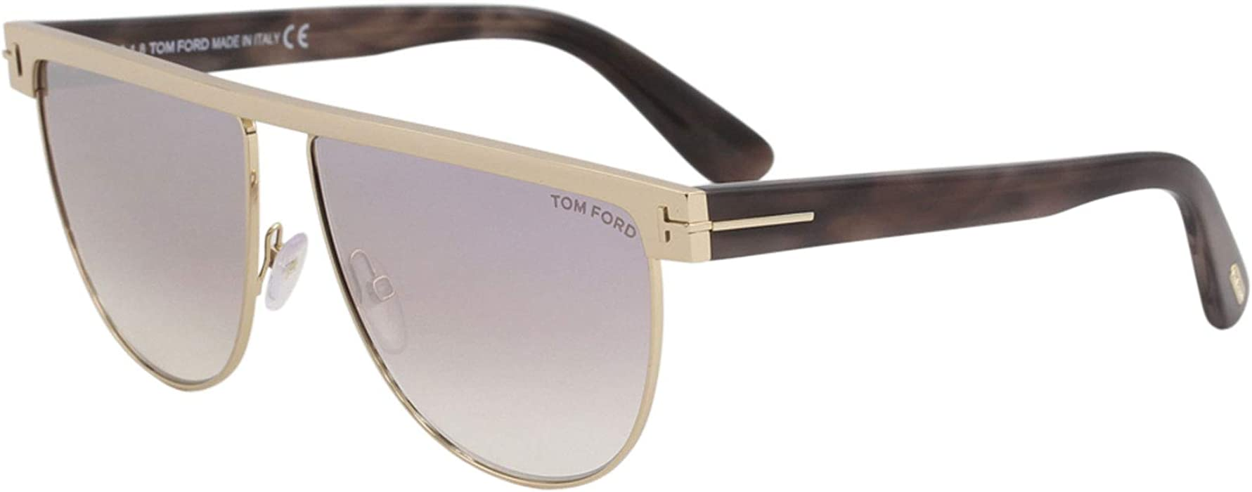cd037e41146bd Sunglasses Tom Ford FT 0570 Stephanie- 02 28Z shiny rose gold   gradient at  Amazon Men s Clothing store
