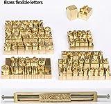 (US) WellieSTR 1 Set Brass Letters,CNC Engraving Mold,Hot Foil Stamp,Number,Alphabet DIY Die Cut Leather Stamp Mold,Symbol Customized Font