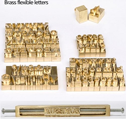 WellieSTR 1 Set Brass Letters,CNC Engraving Mold,Hot Foil Stamp,Number,Alphabet DIY Die Cut Leather Stamp Mold,Symbol Customized ()