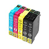 Virtual Outlet ® 5 Pack Remanufactured Inkjet Cartridges for Epson T220XL #220XL 220 T220, T220XL120 T220XL220 T220XL320 T220XL420 Black Cyan Magenta Yellow Compatible with Epson Expression Home XP-320 Small-in-One Expression Home XP-420 Small-in-One Expression Home XP-424 Small-in-One WorkForce WF-2630 WorkForce WF-2650 WorkForce WF-2660