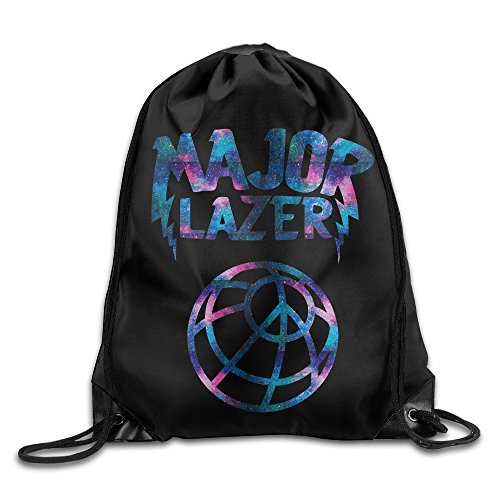 Price comparison product image Galaxy Major Lazer Drawstring Bag,drawstring Backpack,sport Bag White One Size