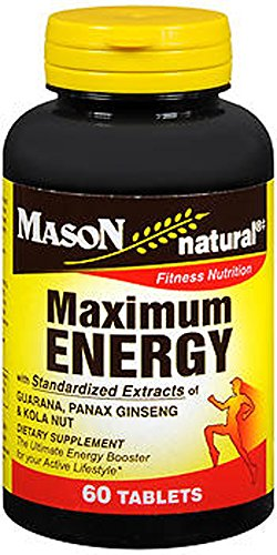 Mason Vitamins Natural Maximum Energy Tablets - 60 Count