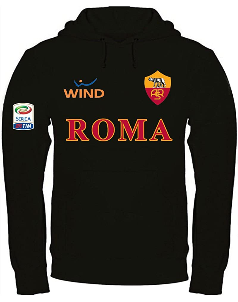 Print & Design Felpa con Cappuccio Roma Ultras Serie A Personalizzata