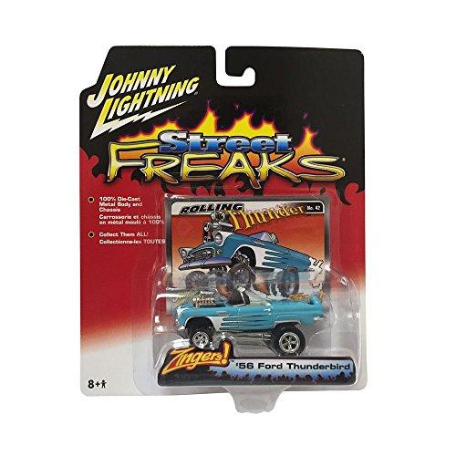 [Johnny Lightning Street Freaks 1956 Ford Thunderbird 1:64 Scale Diecast Replica] (Thunder Lightning Costume)