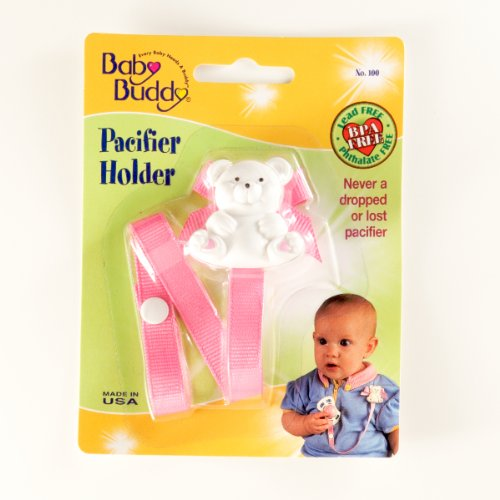 Baby Buddy Bear Pacifier Holder Pink (Pack Of 18) by Baby Buddy (Image #1)
