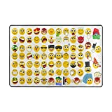 Cooper girl Cute Emoji Area Rug Cover Decorative Carpet 3'x2' for Living Room Bedroom Office