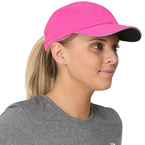 TrailHeads Women's Race Day Running Cap-Performance Hat - pink - Running Visor Women