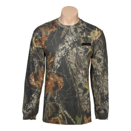 South Dakota Realtree Camo Long Sleeve T Shirt w/Pocket 'U South Dakota Coyotes' - Small