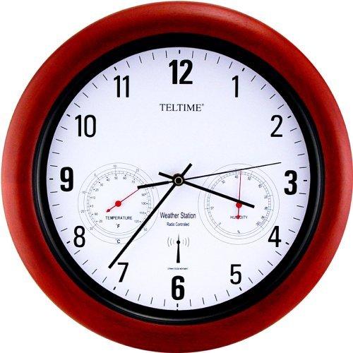 Atomic Radio Control w.Temperature Office Wall Clock