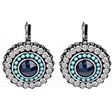 RV DESIGNS Silver Plated Crystal Dangle & Drop earrings for Women