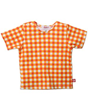 Orange Fair and Square Short Sleeve T-shirt