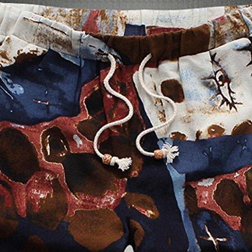 Plage Lâche Taille D'été Grande Type Élasticité Droit De New Multicolore Sport Sportswear Travail Décontractée Adeshop 6 Imprimés Hommes Pantalons Shorts WfFxw8q8gR