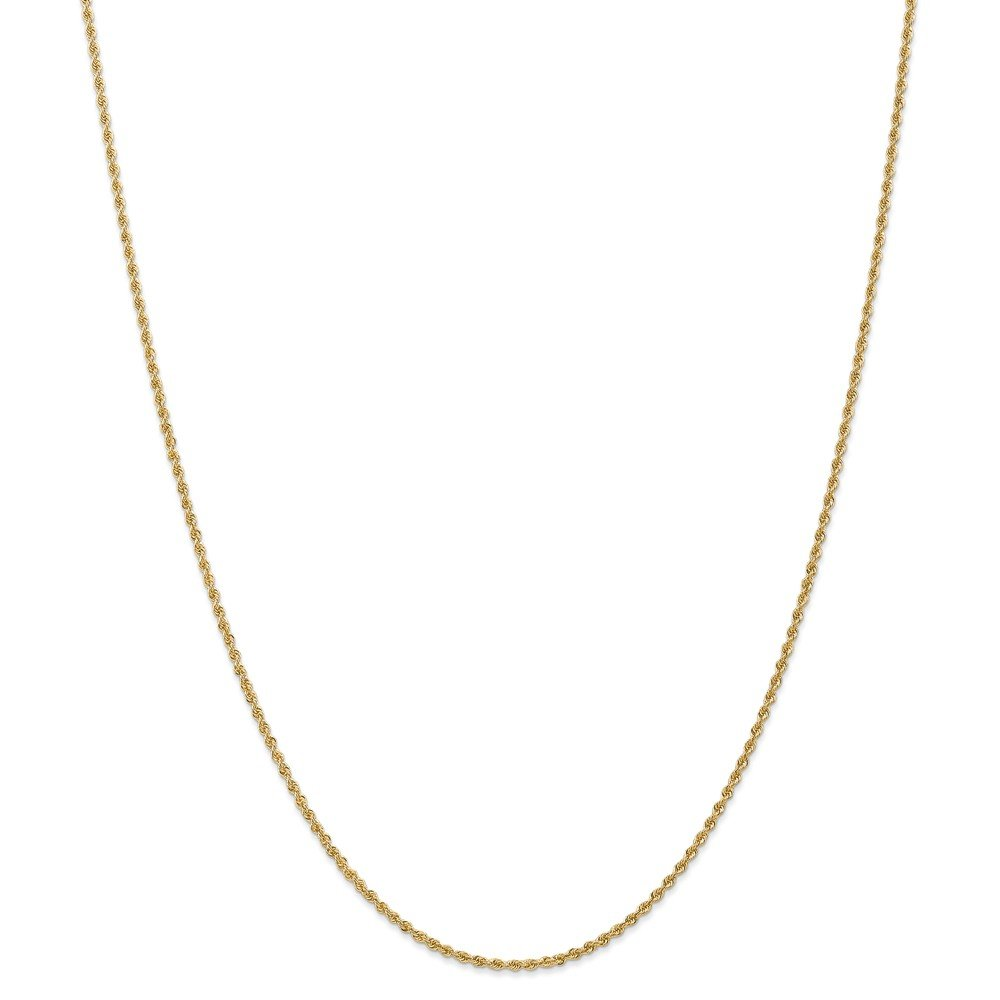 14k Yellow Gold 1.50mm Link Rope Chain Necklace 18 Inch Pendant Charm Fine Jewelry Gifts For Women For Her