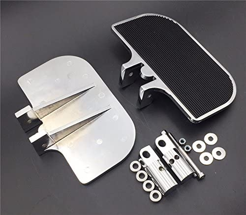 SMT-Chrome Passenger Mini Floorboards Rear Footboards Foot Rest Pegs Mounts Compatible With Harley-Davidson Electra Glide Heritage Softail Fat Boy B01D0QWUXA