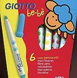 Giotto Be-Be - stylos-feutres (Multicolore, Multi, Encre à base d'eau)