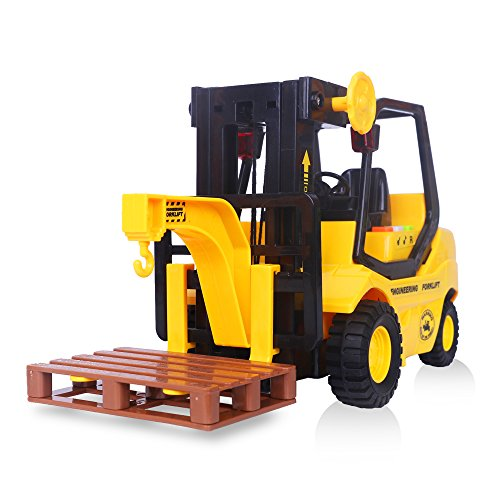 Kids Forklift Inertia Toy Vehicles Friction Powered Forklift Truck Toy Light and Music ,Gift for Boys and Girls