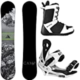 Camp Seven Package Valdez CRC Snowboard-163 cm Wide Summit Bindings-System APX Snowboard Boots 11