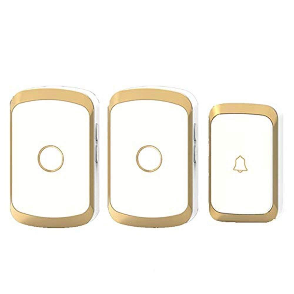 Doorbell Smart Home Wireless Doorbell AC Digital Music Doorbell Home Doorbell Waterproof,gold doorbell