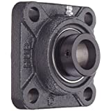 "Hub City FB220DRWX1 Flange Block Mounted Bearing, 4 Bolt, Normal Duty, Relube, Eccentric Locking Collar, Wide Inner Race, Ductile Housing, 1"" Bore, 1.807"" Length Through Bore, 2.75"" Mounting Hole Spacing"