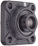 """Hub City FB220DRWX1 Flange Block Mounted Bearing, 4 Bolt, Normal Duty, Relube, Eccentric Locking Collar, Wide Inner Race, Ductile Housing, 1"""" Bore, 1.807"""" Length Through Bore, 2.75"""" Mounting Hole Spacing"""