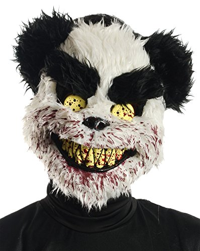 Scary Bear Mask - New Halloween Party Horror Teddy Mask Adults Scary Fancy Dress Costume Accessory by Palmers