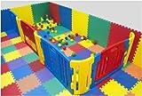 Cannons UK Outdoor/Indoor Protective Flooring Mats Interlocking Floor Matting Gym ,Baby Play Area, Exercise, Yoga - 12 tiles (48sqft)