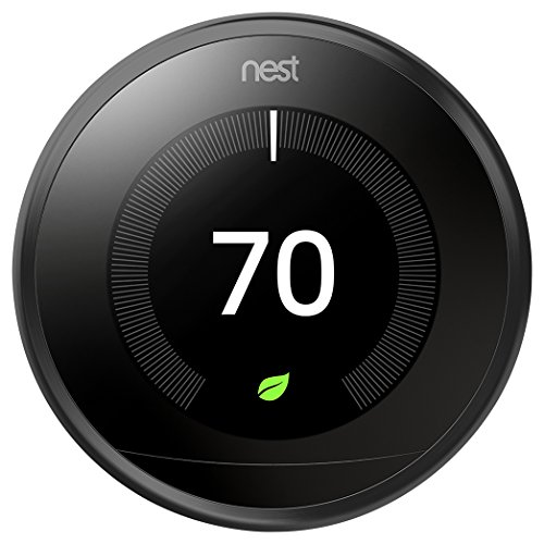 Nest Learning Smart Thermostat 3rd Generation Home/Office Wifi, Black - T3016US