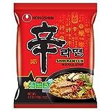 Nongshim Gourmet Spicy Shin Ramen Noodle Soup, 120-Gram