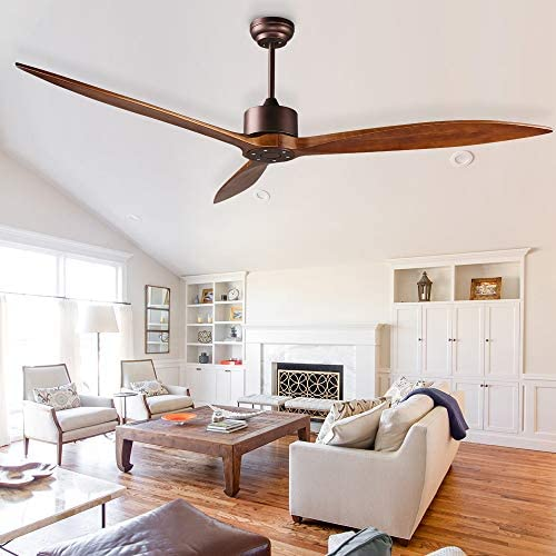 reiga 165CM DC Motor Modern Ceiling Fan with Remote Control, 6 Speeds, Oil-Rubbed Bronze
