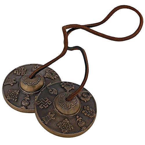 Fasherati Handmade Brass Decorative Manjeera Pair Handmade Statue Musical And Traditional Instrument Indian Music by Fasherati