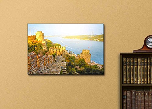 Beautiful Scenery Landscape Fortress Rumelihisar Istanbul Turkey Wall Decor ation